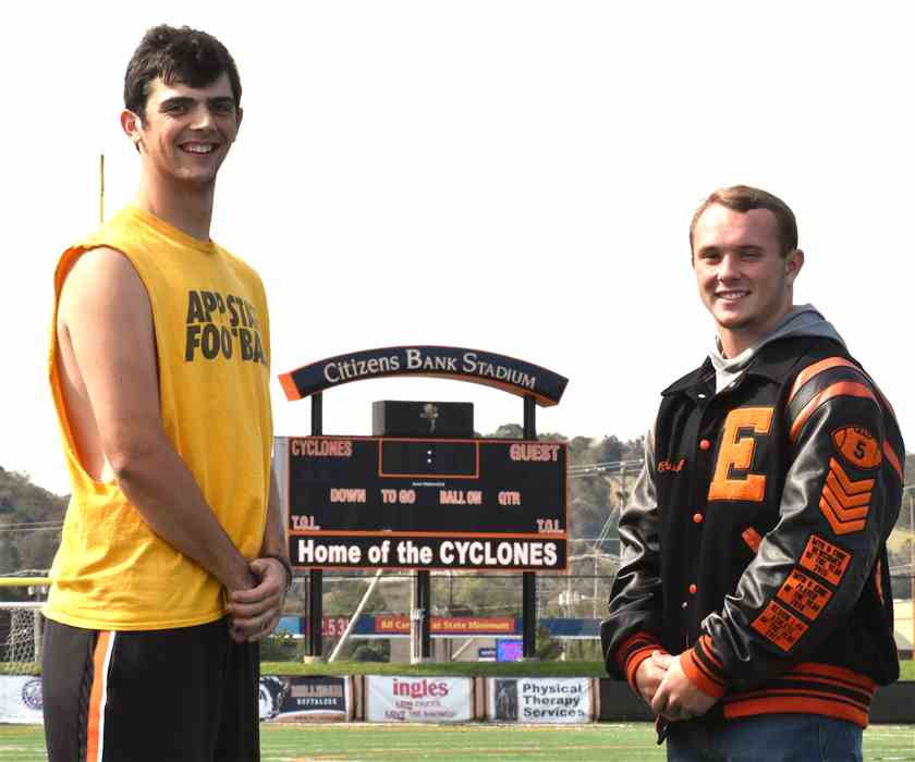 Cyclones' quarterback Carter Everett and running back Corey Russell have combined for over 12,000 yards of total offense in their high school careers.