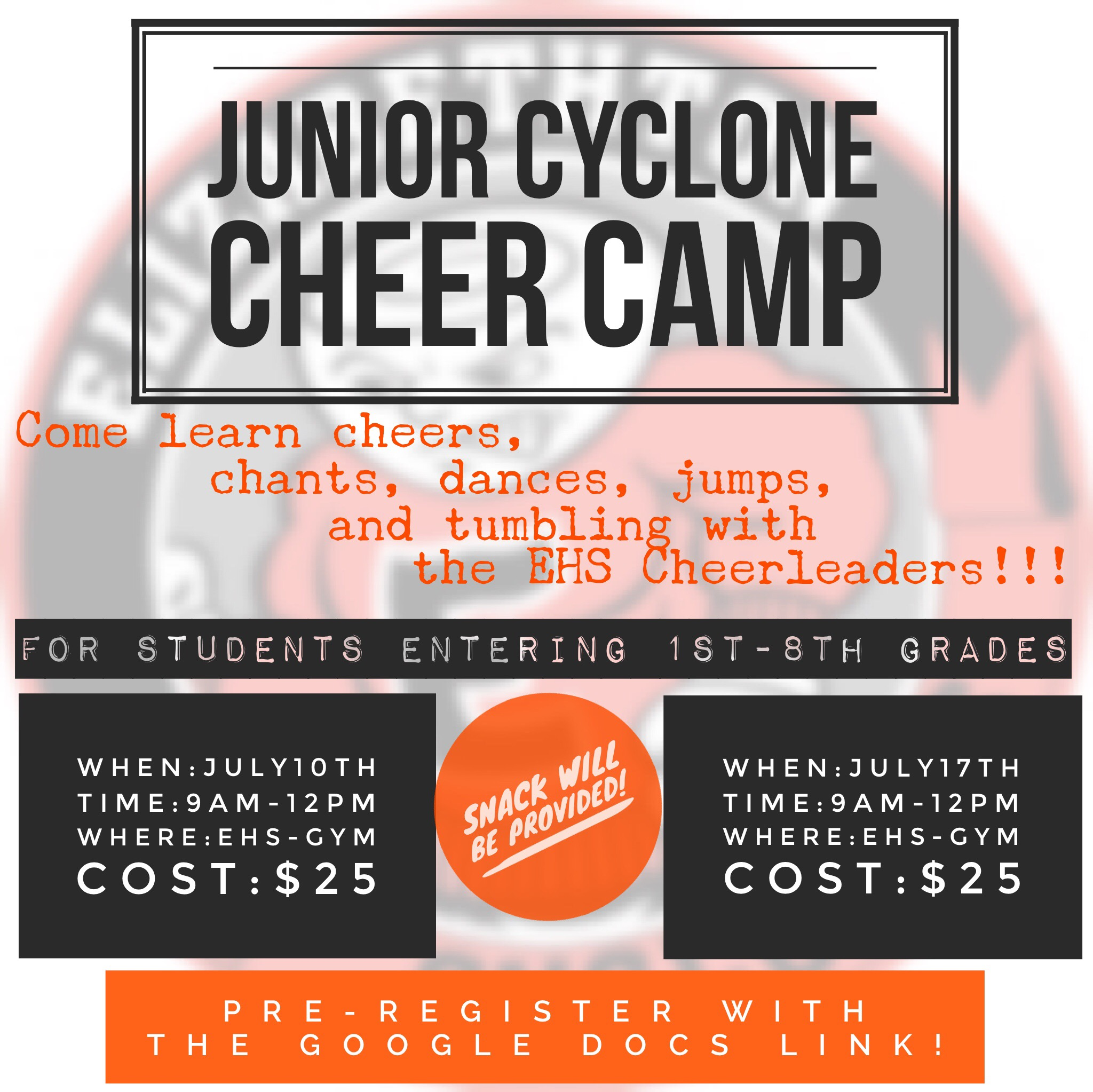 Cheer Camp Flyer