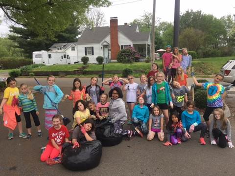 Girls on the Run Cleanup Day